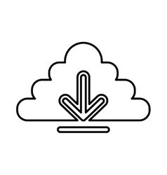 Cloud computing with arrow download vector