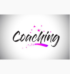 Coaching handwritten word font with vibrant vector