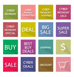 Collection of Cyber Monday Banner for Special Pric vector image