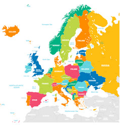 colorful map europe vector image