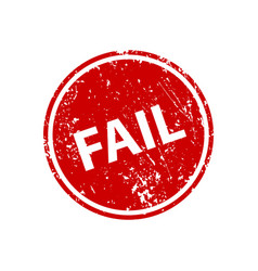 fail stamp texture rubber cliche imprint web or vector image