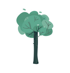 Fantasy tree with big thick vector