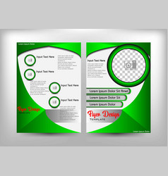 flyer design green buterfly theme vector image