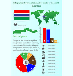 Gambia infographics for presentation all vector