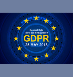 general data protection regulation - gdpr vector image