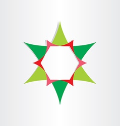 green star with text box design element vector image