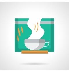 Green tea flat color icon vector