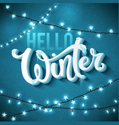 Hello winter poster vector