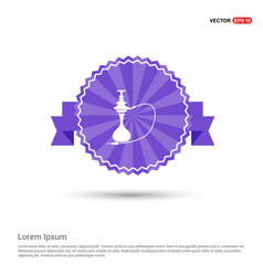 hookah icon - purple ribbon banner vector image