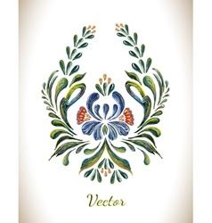 in folk style vector image