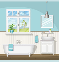 Interior equipment of a bathroom vector