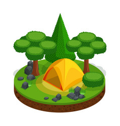 isometric camping outdoor recreation tent vector image