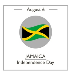 Jamaica Independence Day vector image