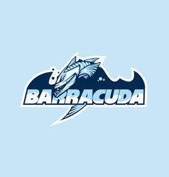 Logo a club or company with name barracuda vector