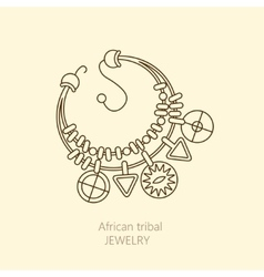 Logo with national African necklace vector