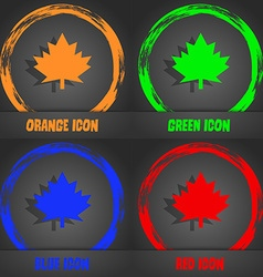 Maple leaf icon fashionable modern style in the vector