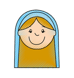 mary virgin manger character vector image