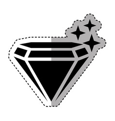 Mine diamond isolated icon vector