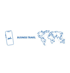 mobile application business travel concept tourism vector image