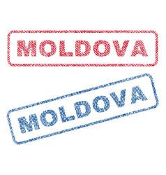 Moldova textile stamps vector