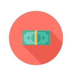 Money Banknotes Circle Flat Icon vector