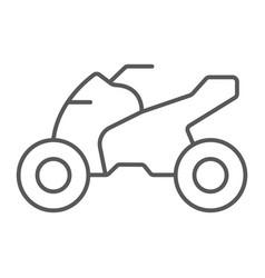 Quadbike thin line icon bike and extreme atv vector