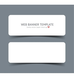 Realistic web banner header footer vector image