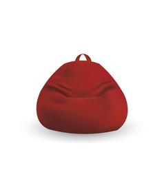 Red lazy bag vector