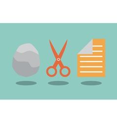 Rock scissors and paper vector