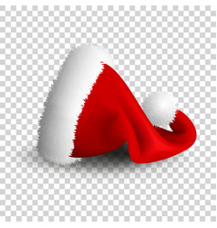 santa claus hat isolated on transparent vector image