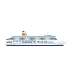 sea cruise ship isolated on white vector image