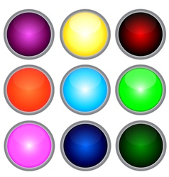 Set colored web buttons vector