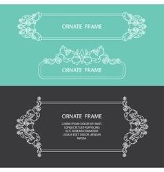 Set decorative frame vector