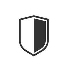 Shield protect icon business concept shield vector