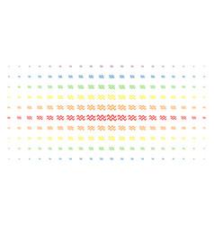 Sinusoid waves spectral halftone grid vector