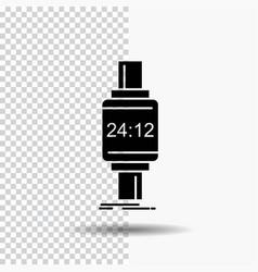 Smart watch smartwatch watch apple android glyph vector