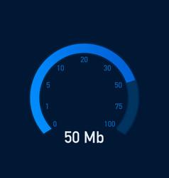 Speed test speedometer internet speed 100 mb vector