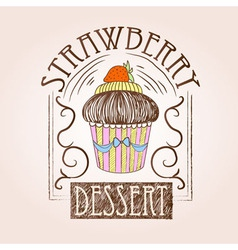 Sweet cake Decorative sketch vector