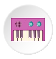 Synthesizer icon cartoon style vector image