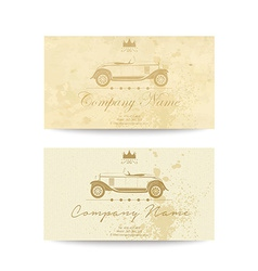Vintage business card vector