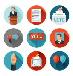 Vote political elections icons vector