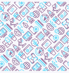 web development seamless pattern vector image