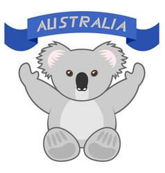 welcome australia vector image