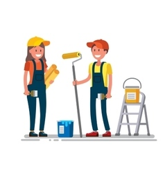 Woman and man worker vector