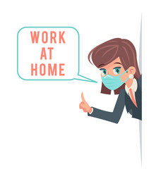 work at home virus protection advice look out vector image