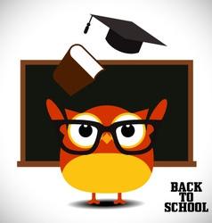 Back to school owl vector image