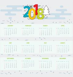 calendar 2018 year - 2018 vector image