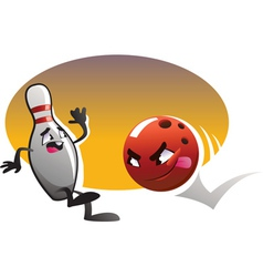 cartoon bowling vector image vector image
