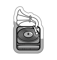 vintage gramophone music device vector image