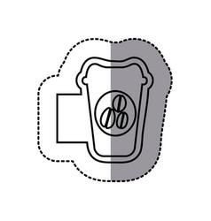 figure emblem coffee espresso icon vector image
